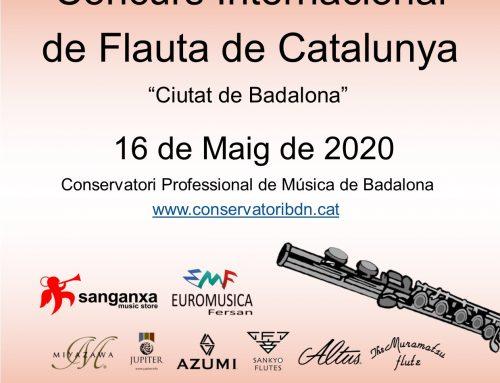 CONCURS INTERNACIONAL DE FLAUTA DE CATALUNYA 2020